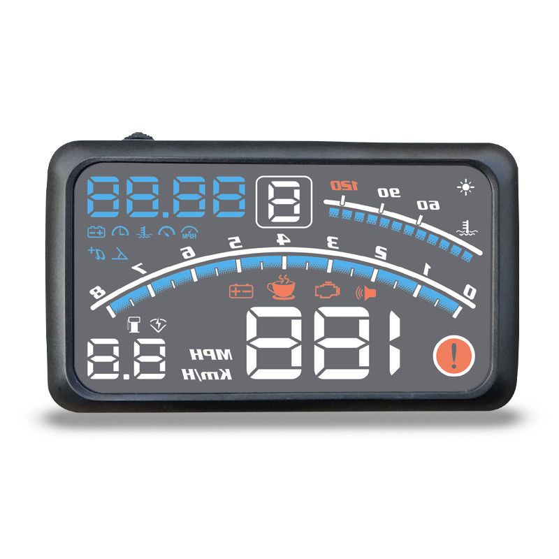 "Punctual 4e 5.5"" Car Hud Head Up Display Car Obd2 Ii Euobd Overspeed Warning System Projector Windshield Auto Electronic Voltage Alarm Choice Materials"