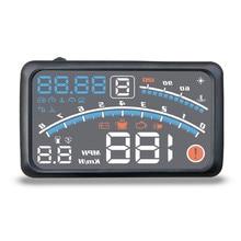 4E 5,5 «Автомобиль HUD Дисплей автомобиля OBD2 II EUOBD превышение скорости Предупреждение Системы проектор для ветрового стекла автоматический электронный Напряжение сигнализации