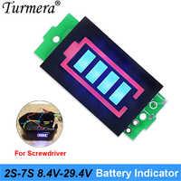Battery indicator 2S 8.4V 3S 12.6V 4S 16.8V 5S 21V 6S 25.2V 2 to 7 Series Lithium Battery Capacity Module for shura screwdriver