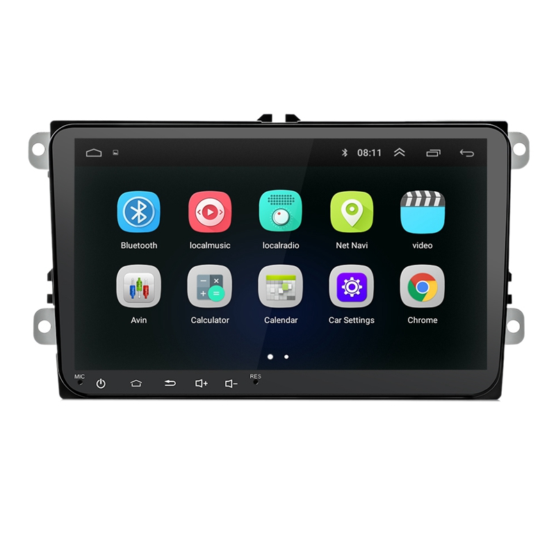 9 pouces Android 8.0 Double 2Din autoradio Gps Auto Radio 2 Din Usb pour Volkswagen/Passat/Golf/Skoda/siège Wifi Bluetooth 2 Din