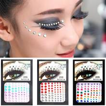 Face Gems Jewels Crystal Sticker Eye Crafted Body Temporary Tattoo Glitter  For Female Party Make Up 6 Colors ec88eab337ad