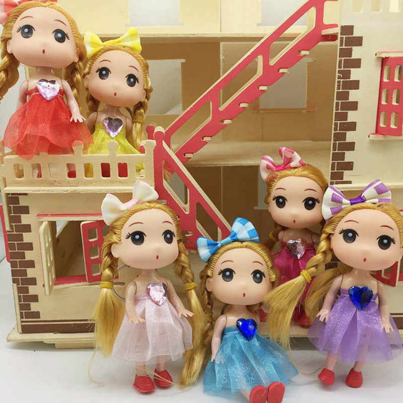 New High Quality Princess Cute Dolls 12cm Doll Silicone Toy Wedding Doll Creative Childrens Toy Birthday Gift Toys for Girls