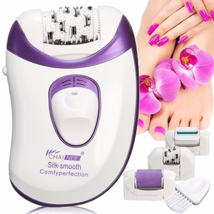 Image 2 - Callus Remover Epilator Rechargeable 4 in 1 Electric Tweezer Hair Removal Shaver Electric Lady Rechargeable Quick EU Plug Light