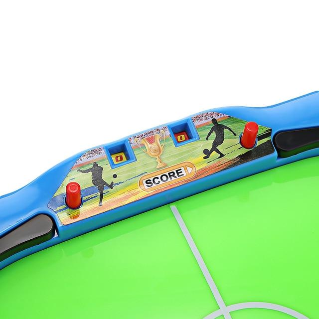Novel Mini Tabletop Table Soccer Toy Shooting Defending Board Game Football Sport Match Kids Preschool Play Ball Toys 2
