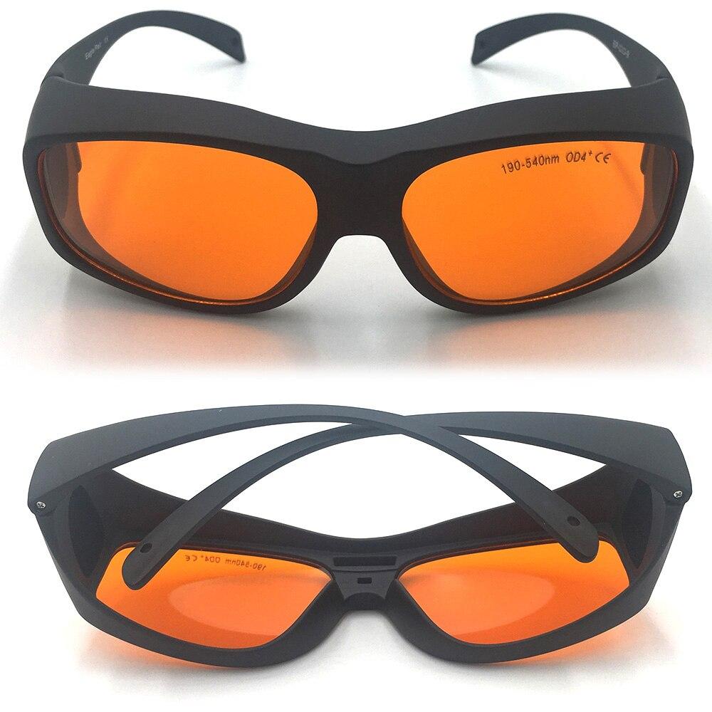 Ep-3-9 CE 200nm-355nm-405nm-445nm-532nm-540nm OD4 + Vert laser bleu lunettes de protection