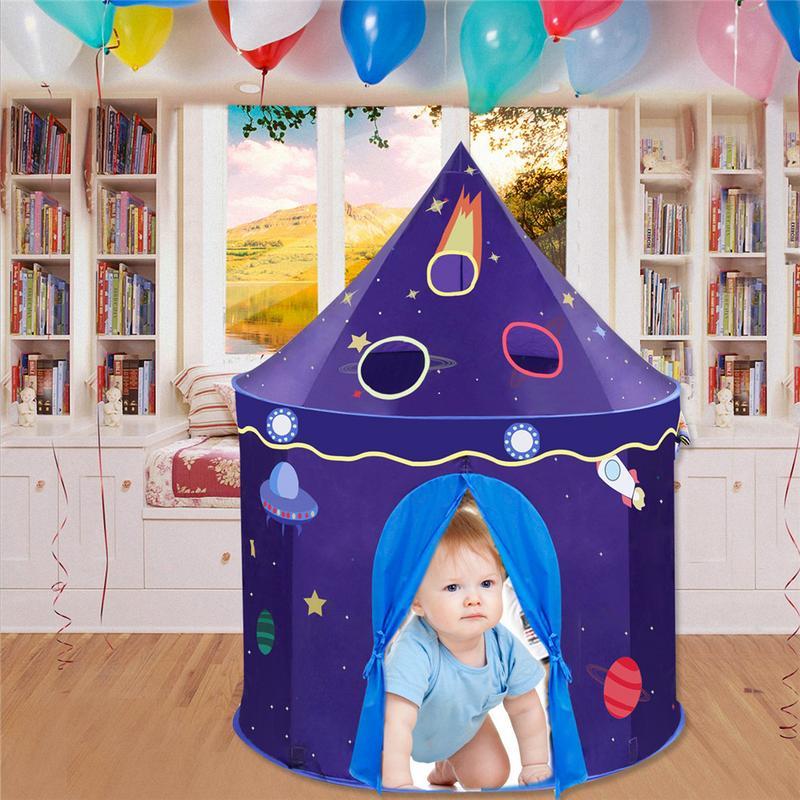 Jouet tentes Adorable château Playhouse espace thème pliable petit Prince et princesse tente robuste jeu maison pour enfants cadeau jouet