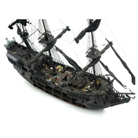1:41 Wood Boat Model Kit the Whole Scene for Black Pearl Sailing Ship for Pirates of the Caribbean DIY Assembly Boat