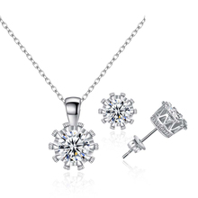 Sexy Mom Fashion Women Elegant Tie Necklace Earrings With Cubic Zirconia Fine Jewelry Set For 2018 Romantic Wedding Accessories