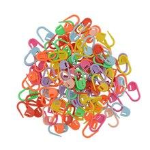 100 шт цветные вязальные переплетения, пластиковые, для вязания крючком, для рукоделия, фиксирующий стежок, держатель для маркеров, разные цвета