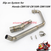 CBR 150 150R Motorcycle Exhaust Pipe Scooter Front header link Pipe Middle Tube Slip On System For Honda CB150R CBR150 CBR150R