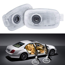 2pcs For Mercedes Benz AMG Logo Car Courtesy Welcome Light Car Styling For S Class W221 Auto Door Warning Ghost Shadow Lamp LED akd car styling for mercedes benz b class w245 led star light drl front grille led logo hollow emblem daytime running light