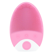 EAS-Electric Silicone Cleansing Instrument Ultrasonic Vibration Massage Instrument Wash Brush Facial Pore Cleaner Beauty Tool ultrasonic face wash electric wash artifact cleansing instrument wash pores cleaner multi function wash brush