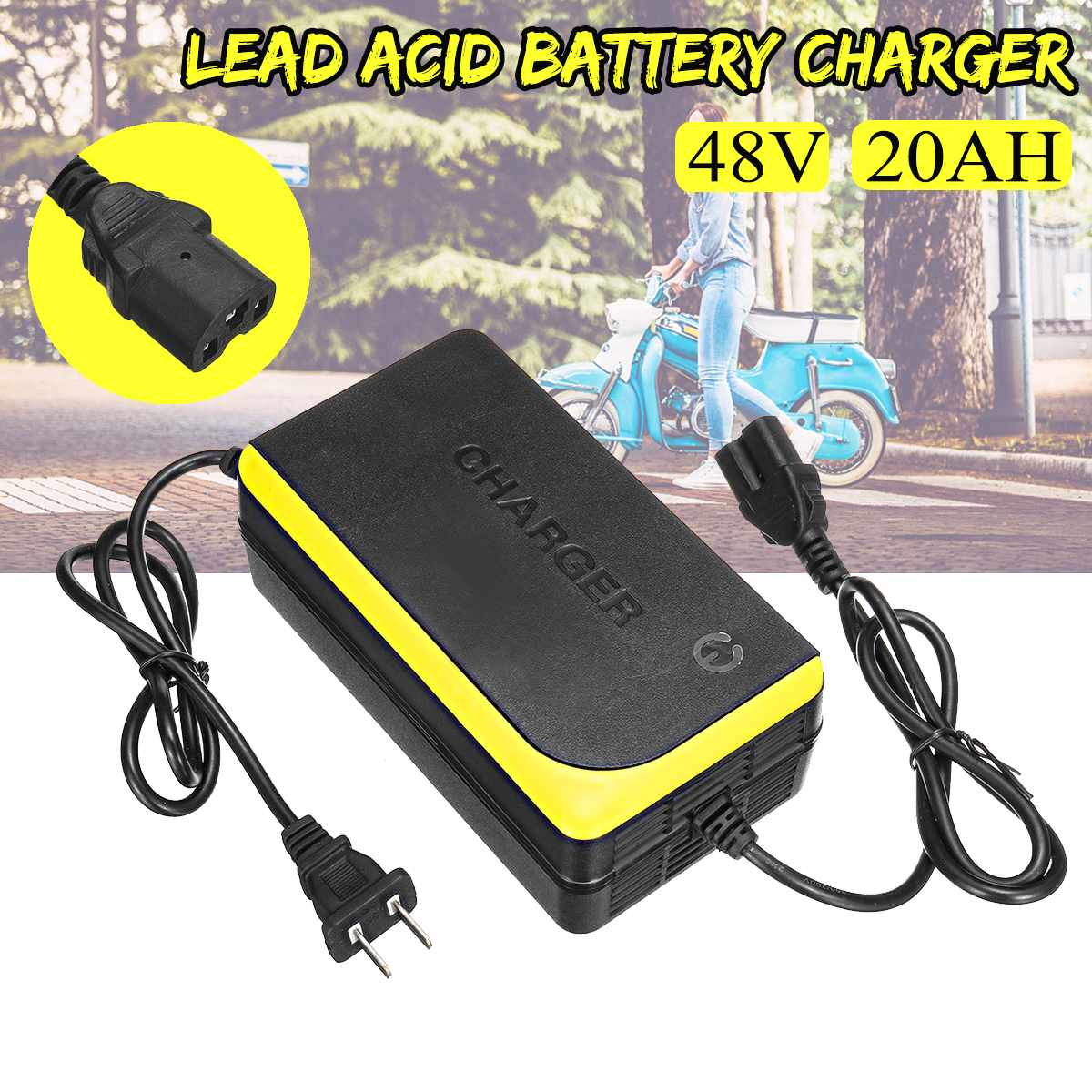 48V 20AH Lead Acid Battery Charger For Electric Bicycle Bike Scooters Chargers