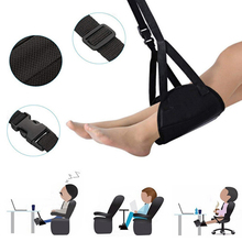 Portable Travel Airplane Foot Rest Made with Memory Foam Flight Hammock MDJ998
