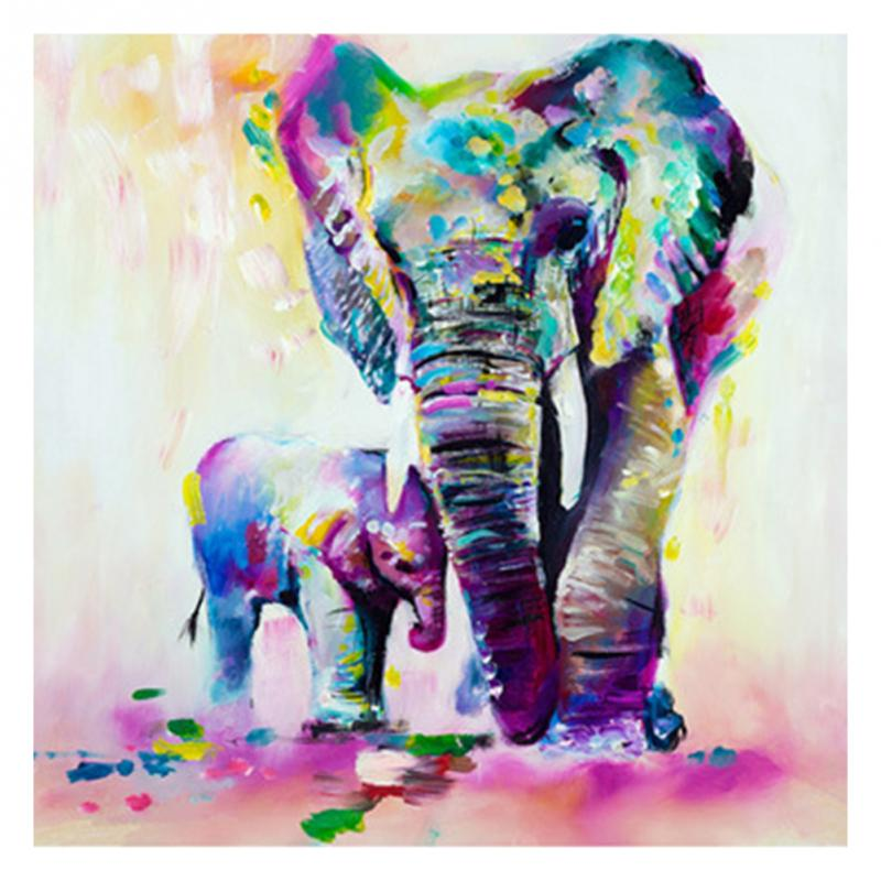 Big Triptych Watercolor Elephant Horse Posters Print Abstract Animal Picture Canvas Painting No Frames Living Room Home Decor