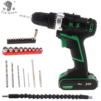 цена на 12V 16V 21V Electric Drill Double Speed Lithium Cordless Drill Household Multi-function Electric Screwdriver Power Tools