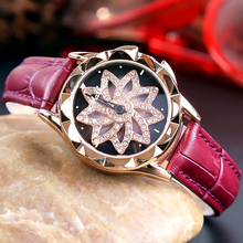 2019 Best Selling Women Rotating Dail Watch Casual Luxury Geometric Surface Quartz Watches