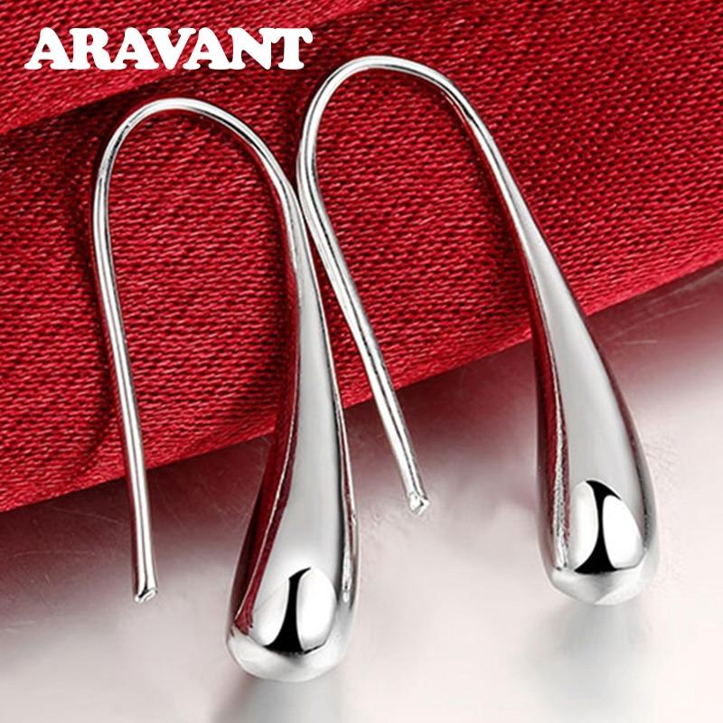 Hot Sale 925 Silver Earring Fashion Jewelry Teardrop/Water drop/Raindrop Dangle Earrings For Women Valentine Gifts