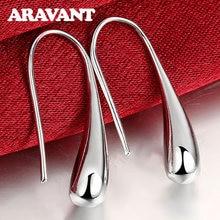 Boucles d'oreilles en argent 925, bijoux en forme de larme/goutte d'eau/goutte de pluie, boucles d'oreilles pour femmes, cadeaux de saint-valentin