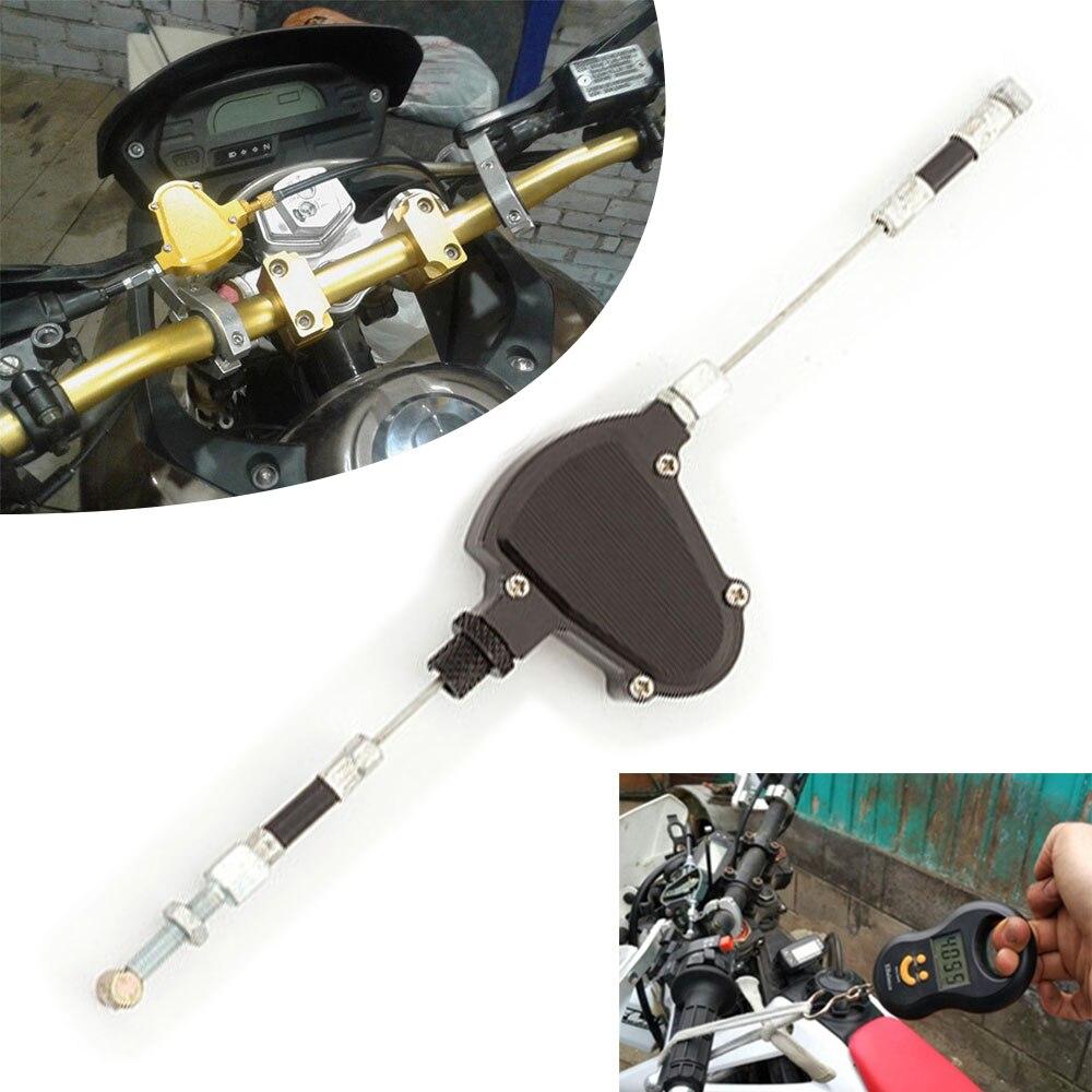 In Staat Mayitr 1 St Zwarte Motorfiets Clutch Gemakkelijk Pull Kabel Systeem T6061 Aluminium 6-positie Roll-n-klik Aanpassing