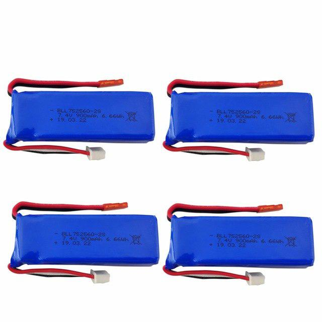 LeadingStar 7.4V 900mAh Lithium Battery For XK X520 XK X420 6 Channels Brushless Aileron 3D Stunt Helicopter Accessories