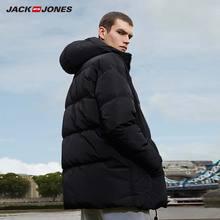 JackJones, мужская зимняя куртка пуховик с капюшоном, мужская повседневная модная куртка, 2019, брендовая новая мужская одежда 218312531