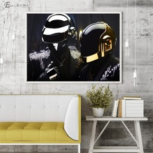 Daft Punk Mask Pop Music Singer On Sale Poster Wall Painting Living Room Abstract Canvas Art Pictures For Home Decor No Frame