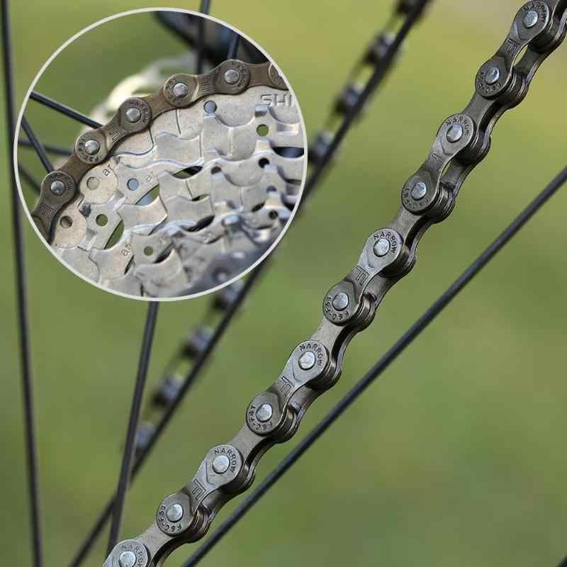 Велосипедная цепь 116 звеньев 7 S 8 S 21/24 скорость MTB горный велосипед велосипедная стальная цепь из высококачественной стали подходит для MTB и т. Д.