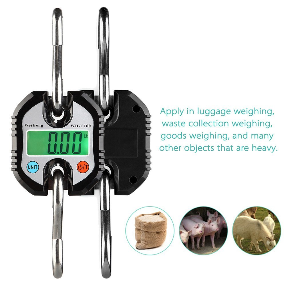 Mini Portable Electronic Scale Digital Scale Fish Scale with Zero TrackingTare Function 150kg Double-range Scale
