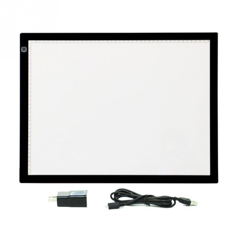 LED Planche à Dessin A3 Led Tableau Traçage Boîte à Lumière Pad Artistes Copie Planche à Dessin Art Pochoir Drop Shipping #1106