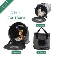 Pet Tunnel Toys Cat Kitten House Nest With Ball Dog Puppy Kennel Cat Carrier Pet Bed Dog House Supplies For Drop Shipping