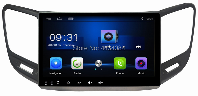 Ouchuangbo autoradio gps navi pour Changan CS15 2016 d'usb de soutien CFC 4 Noyau 1080P vidéo android 8.1 OS 2 + 32 gratuit chili carte