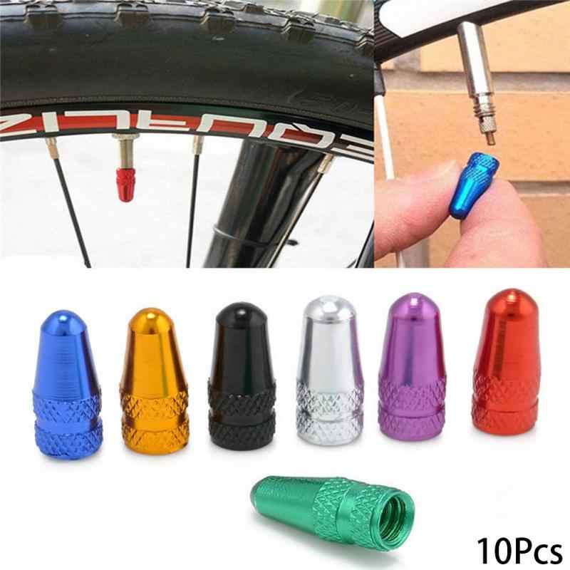 10 sztuk rower Presta Cap wytrzymały rower Fixie MTB Presta felgi tire Stem czapki powietrza osłona przeciwpyłowa akcesoria rowerowe ~
