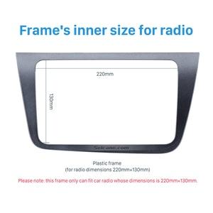 Image 4 - Seicane 2 DIN Car Radio Fascia Dash Trim Kit For 2004+ SEAT Altea Toledo LHD  220*130mm Stereo DVD Player refitting Frame