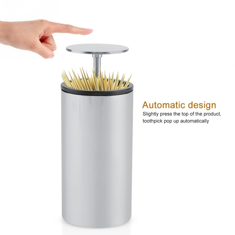 Automatic Stainless Steel Toothpick Dispenser Box Holder Container For Home Restaurant Bar Use Toothpick Holders Aliexpress