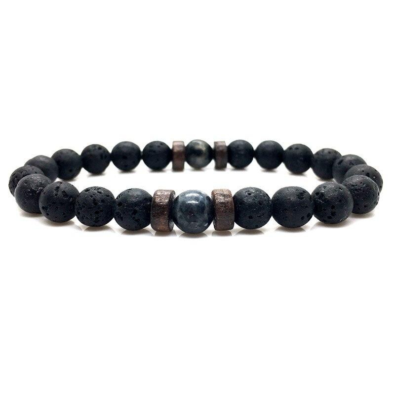 Men Bracelet Natural Moonstone Bead Tibetan Buddha Bracelet chakra Lava Stone Diffuser Bracelets Men Jewelry gift Drop Shipping 2