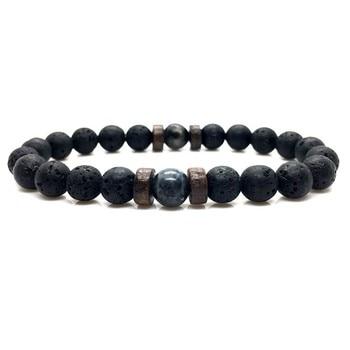 Natural Moonstone Bead Men Bracelet 1