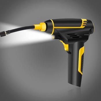 Auto Tragbaren Luft Kompressor Pumpe Wiederaufladbare Inflator Hand Reifen Inflation Matratzen LCD Digital USB Lade mit Licht