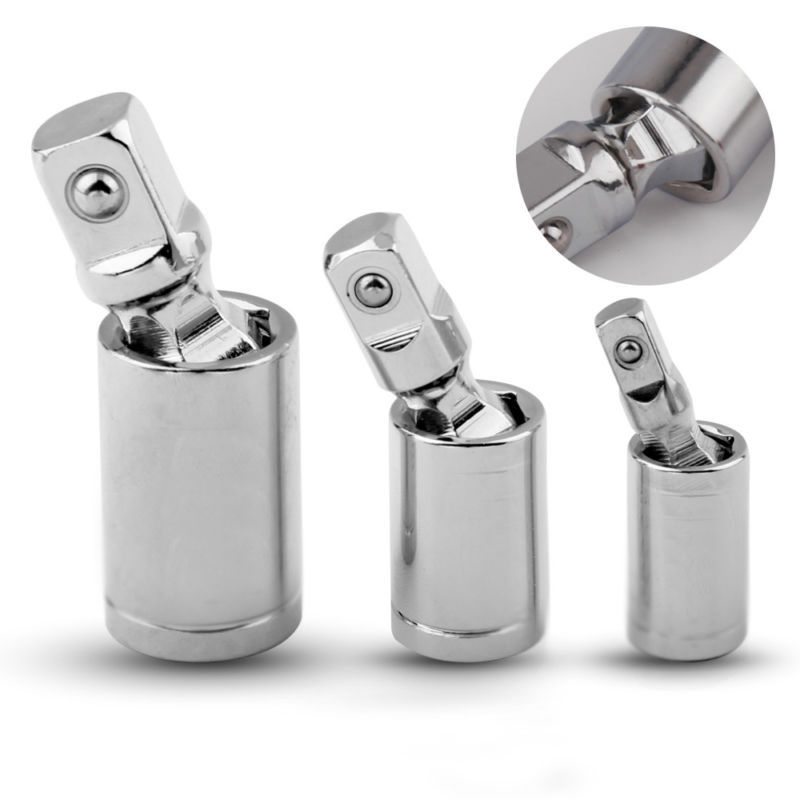 "3 stücke Gesetzt Joint Ratsche Verlängerung Bar Buchse Adapter 1/4 ""3/8"" 1/2 ""Universal Bohrer Adapter Befestigung Erweiterung werkzeug"