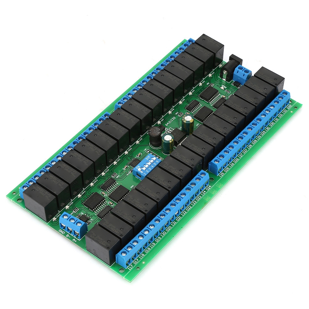 DC12V Serial Port 32 Channels Switch Control Relay Module R421C32 Open Close Job Self lock Interlock