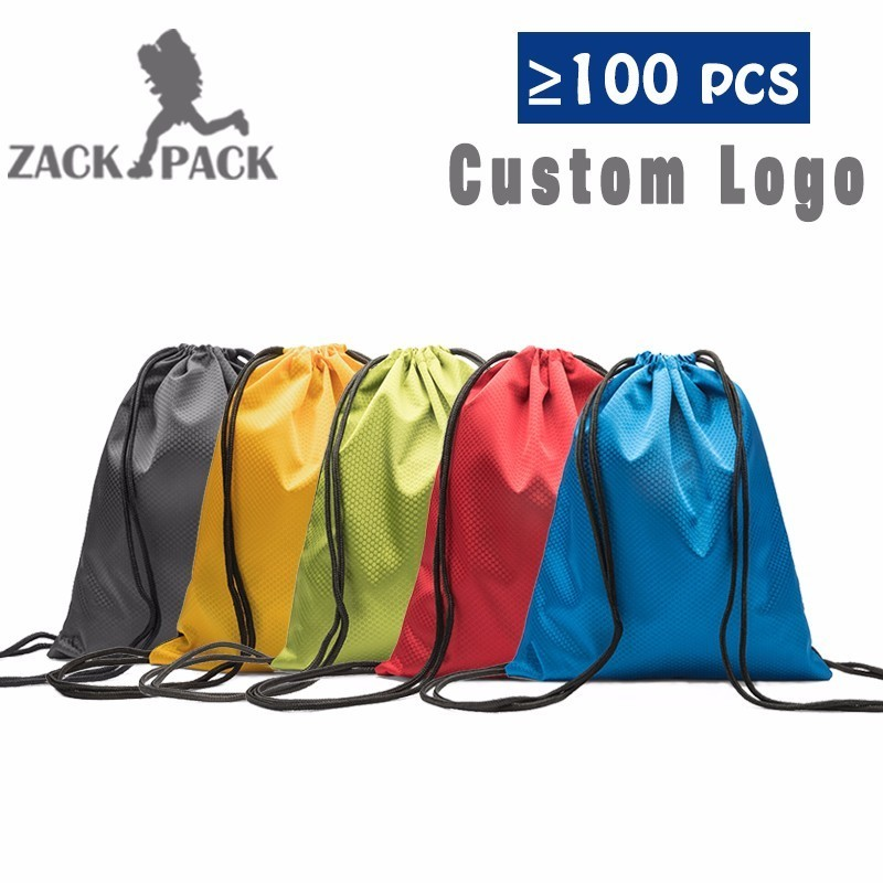 High Quality Sports custom logo bag Waterproof Oxford Cloth Bundle Pocket Backpack Pull Rope Small Drawstring bags Boy Girls DB6