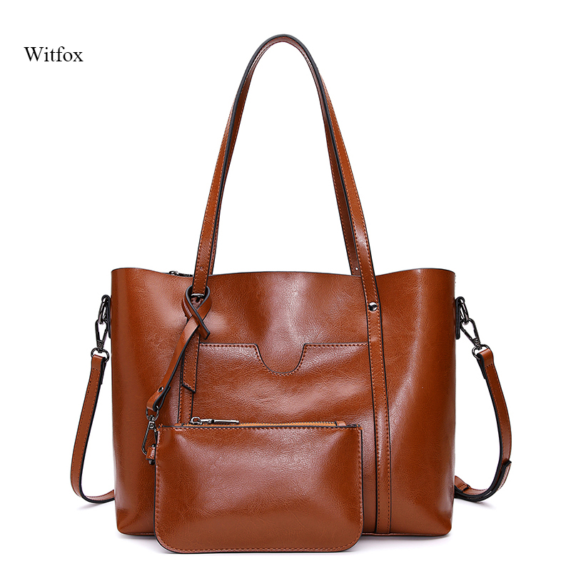Women tote bag sac a main Shopping bag for woman genuine leather big capacity with one small purse bag Women tote bag sac a main Shopping bag for woman genuine leather big capacity with one small purse bag