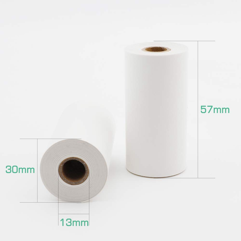Glossy Printable Sticker Paper White Direct Thermal Paper Self Adhesive 57x30mm For Paperang Portable Bluetooth Pocket Printer