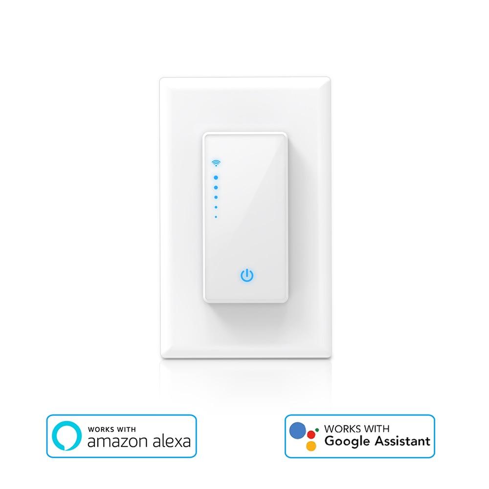 Licht & Beleuchtung Für Smart Leben App Telefon Fernbedienung Kompatibel Für Alexa Google Assistent Dimmbare Wifi Schalter Uns Stecker Wand-in Smart Switch Dimmer