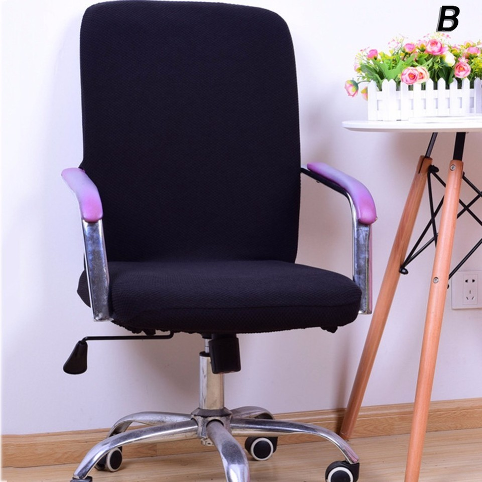 Office Computer Chair Covers Spandex Chair Covers Office Anti-dust  Universal Black Red Coffee Beige Grey Armchair Cover