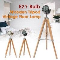 Wooden Tripod Floor Lamp Standing Lights for Living room Decor Reading Lighting Triangle Modern Minimalist Industrial Luminaire