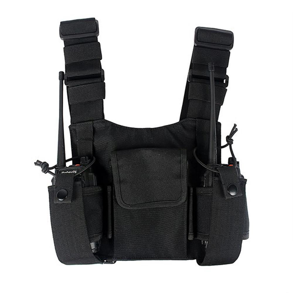 Radio Harness Chest Front Pack Pouch Holster Vest Rig Carry Bag For Baofeng UV-5R UV-82 BF-888S TYT Motorola ICOM Walkie Talkie