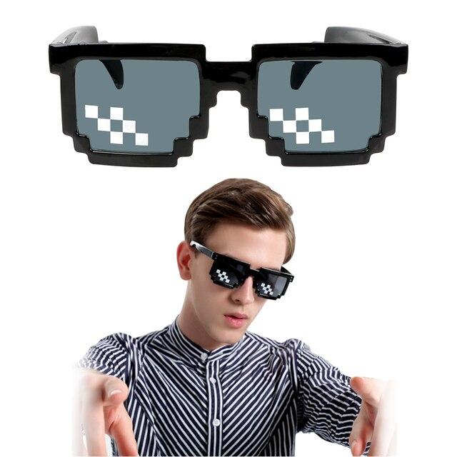 Motocycle Sunglasses UV Protection 3/6 Bit MLG Pixelated Sunglasses Motocross Bike Racing Glasses Mosaic Vintage Eyewear 1