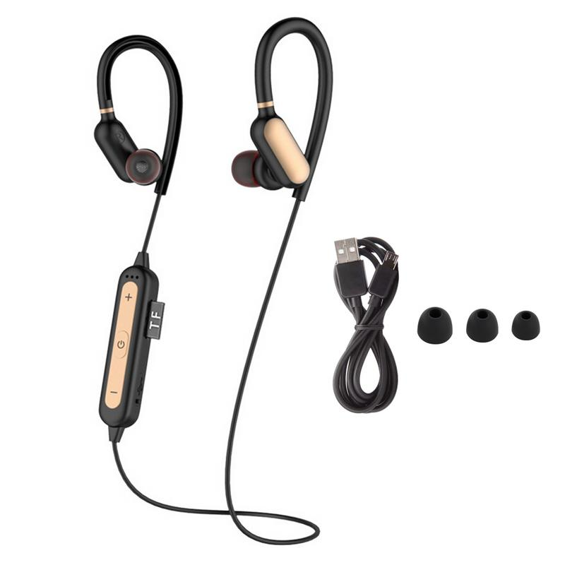 Image 4 - Portable Earphone 4.2 Bluetooths Pluggable Ear Hook Earbuds Anti slip Sweat proof Stereo Hd Bass Sports Music Devices With Mic-in Bluetooth Earphones & Headphones from Consumer Electronics