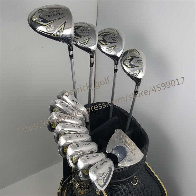 Nouveau 525 Golf Clubs HONMA BEZEAL 525 Ensemble Complet HONMA conducteur de Golf. bois. fers. putter De Golf Graphite arbre no sac Livraison gratuite